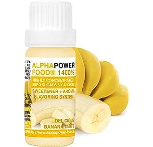 ALPHAPOWER FOOD Aroma alimentario - alimenticio, concentrado 1400%*, 1x10ml saborizante de alimentos