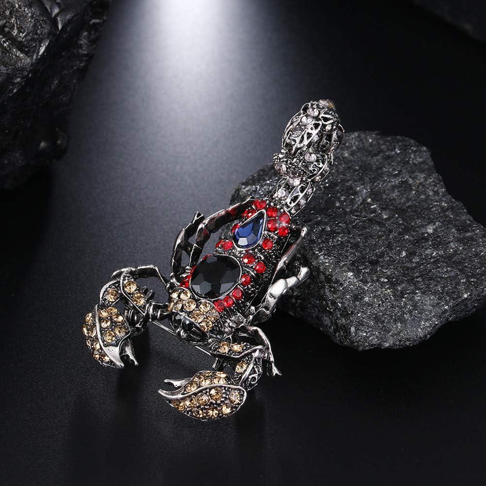 DIYOO Broche Scorpion Pin avec Zircon Broche pour Femmes Hommes Cadeau