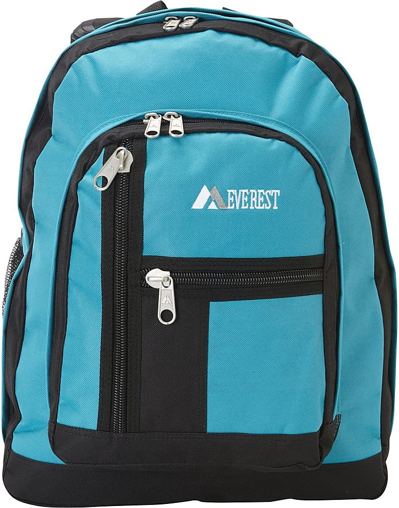 Dark Gray Everest Double Main Compartment Backpack One Size
