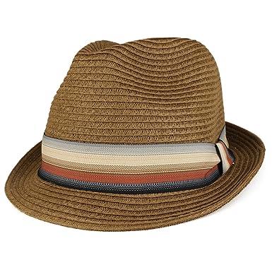 d597f16cb4a29 XXL Oversized Stylish Basic Stingy Straw Fedora Hat - BROWN at ...