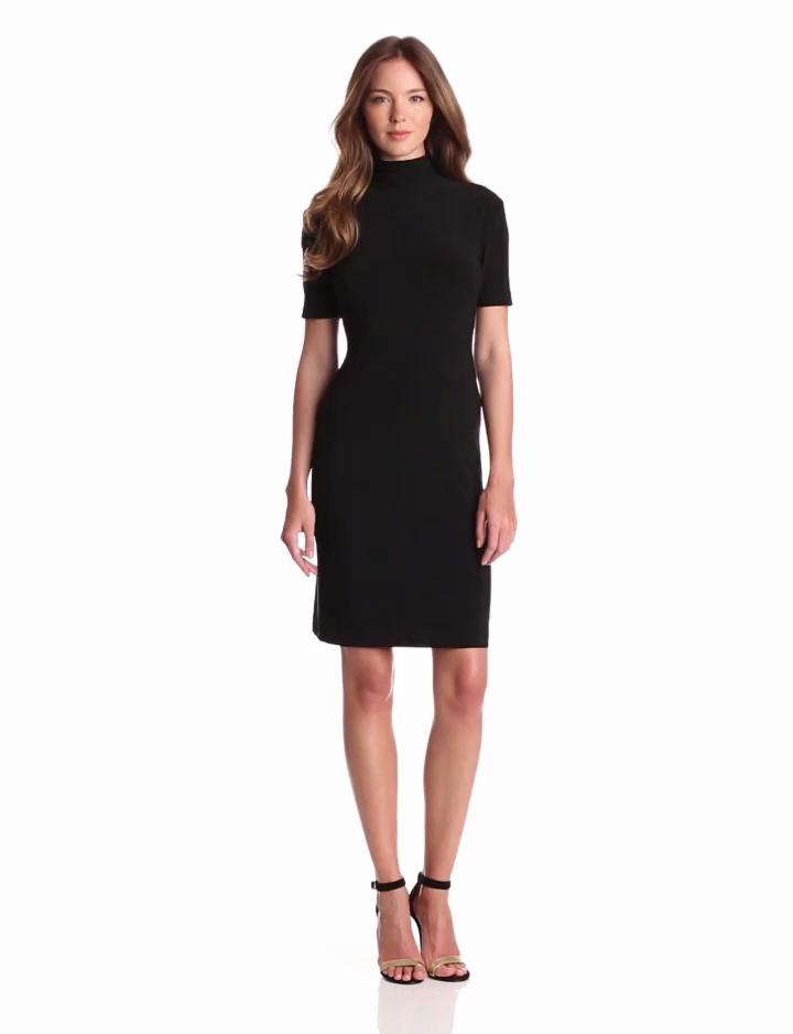 Short Sleeve Turtleneck Dress
