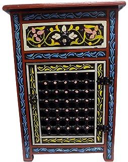 Moroccan Moucharabieh Nightstand Table Arabic Design Furniture Black