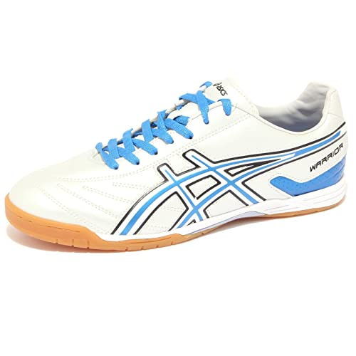 6515Q sneaker uomo ASICS WARRIOR argento/blu shoe men