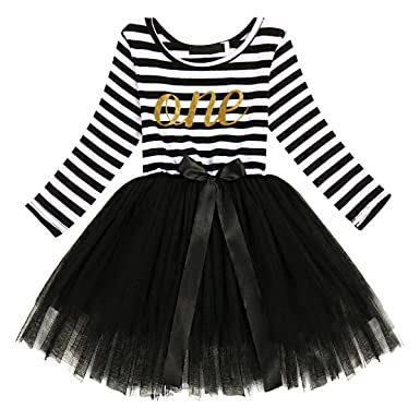5e5ea14cca32 Amazon.com  Cake Smash Outfit Baby Girls 1st 2nd 3rd Birthday Dress ...