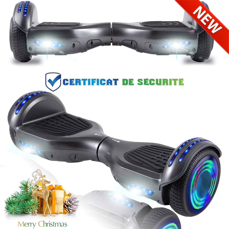 "Genuine 6.5/"" Electric Self Balance Hover Scooter 2 Big Wheel Board LED Light"