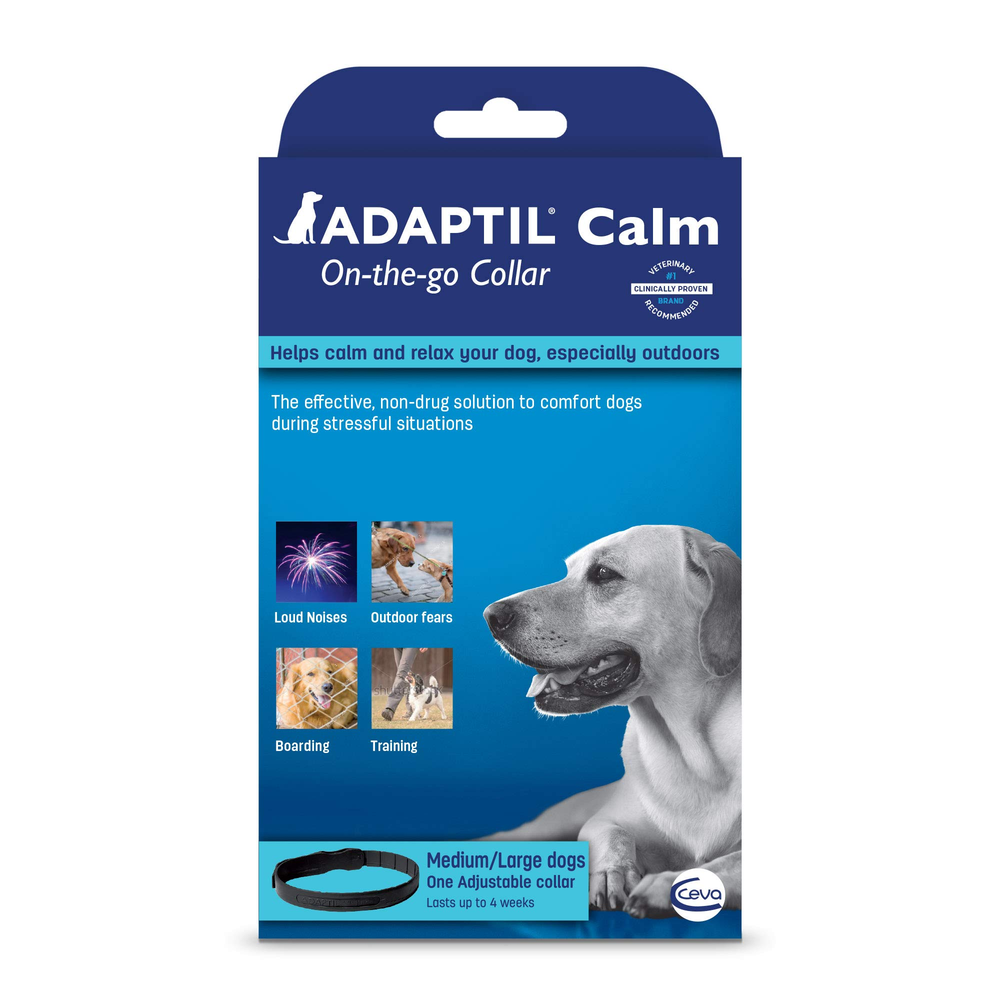 Adaptil Calm On-The-Go-Collar (Medium/Large) (Packaging may vary) by Adaptil