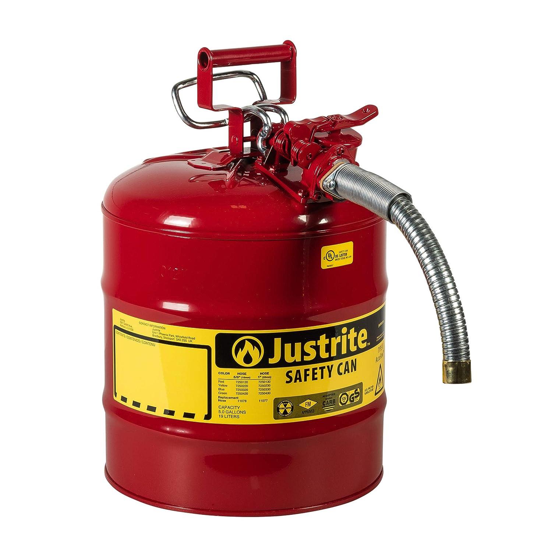 Max 60% OFF Justrite 5 Gallon Red AccuFlow Galvanized Type Vented II shipfree Steel S