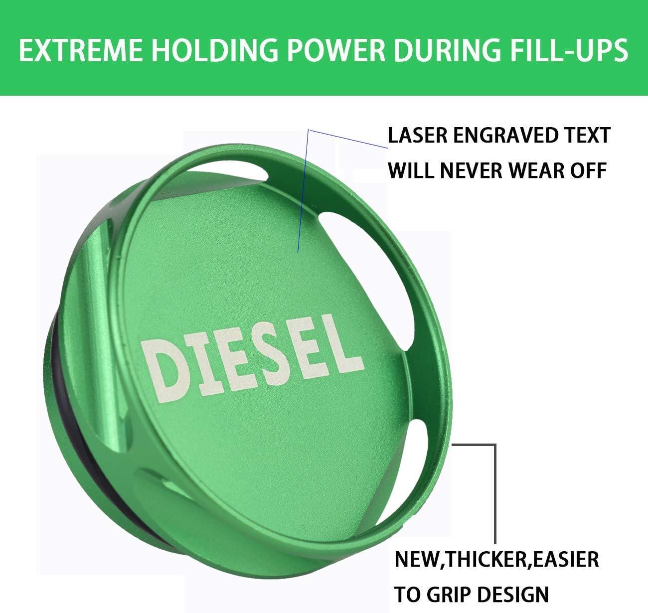MKING Magnetic Diesel Fuel Cap Accessory for Dodge RAM TRUCKTRUCK 1500 2500 3500 2013-2018
