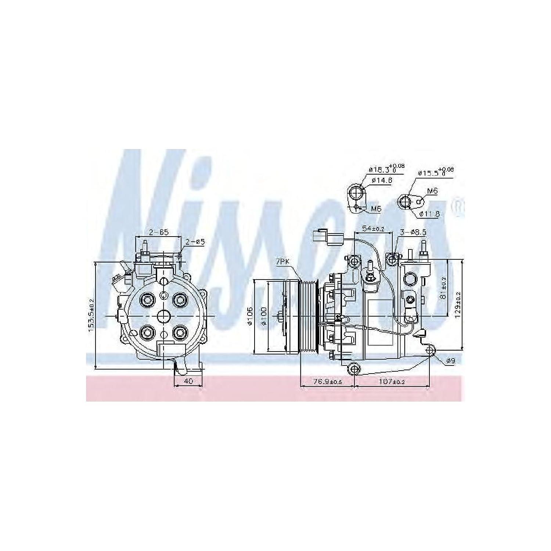 NISSENS 89246 Kompressor, Klimaanlage Nissens A/S