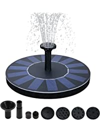 Kyerivs Birdbath Solar Fountain Pump ...