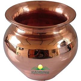 Himshikhar Products Handmade Copper Kalash (Golden)
