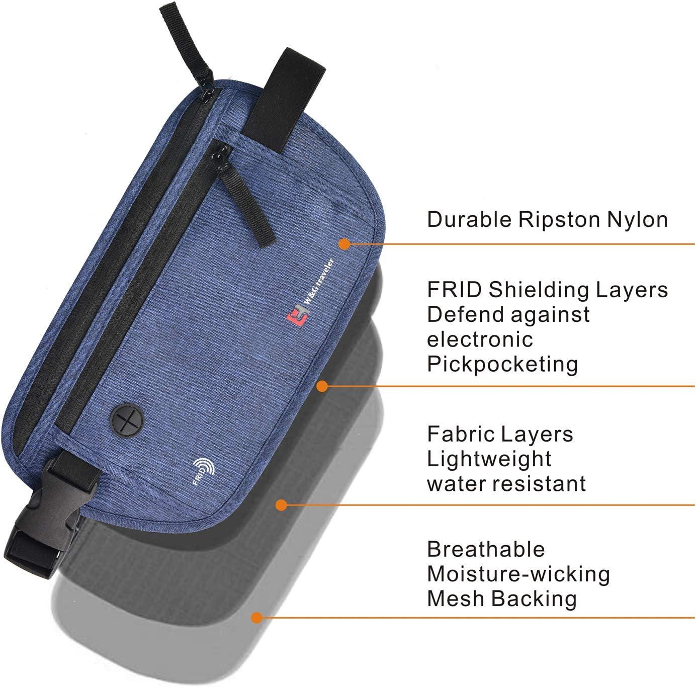 Waterproof RFID Blocking Passport Holder Neck Stash Pouch Security Hidden Travel Neck Wallet for Men and Women dark gray