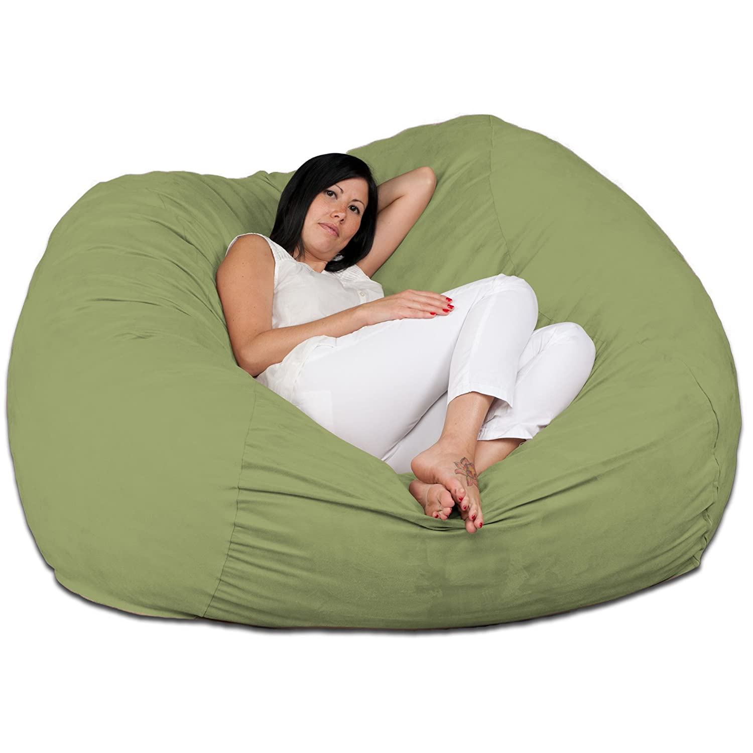 Amazon Fugu 5 Foot Bean Bag Chair Lime Kitchen & Dining