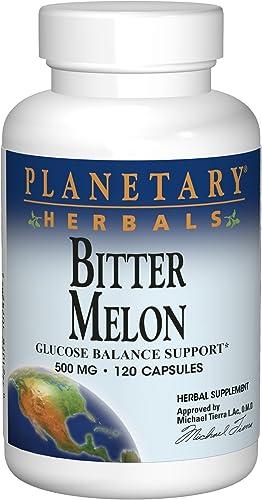 Planetary Herbals Bitter Melon 500mg Momordica Charantia - 120 Capsules