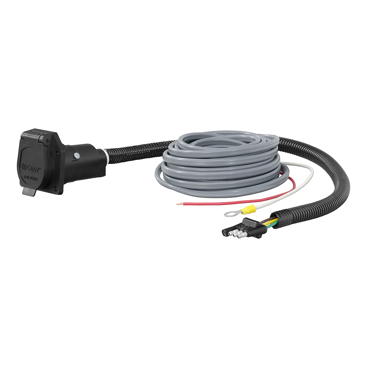 Amazon.com: CURT 57186 4-Way Flat Electrical Adapter with Brake Control  Wiring: Automotive