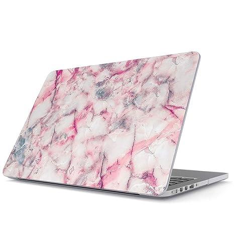 BURGA Funda para MacBook Pro 13 Pulgadas de 2016-2018, Modelo: A1989 / A1706 / A1708 con o Sin Touch Bar Rosa Rosado Marmol Pink Coton Candy Marble ...