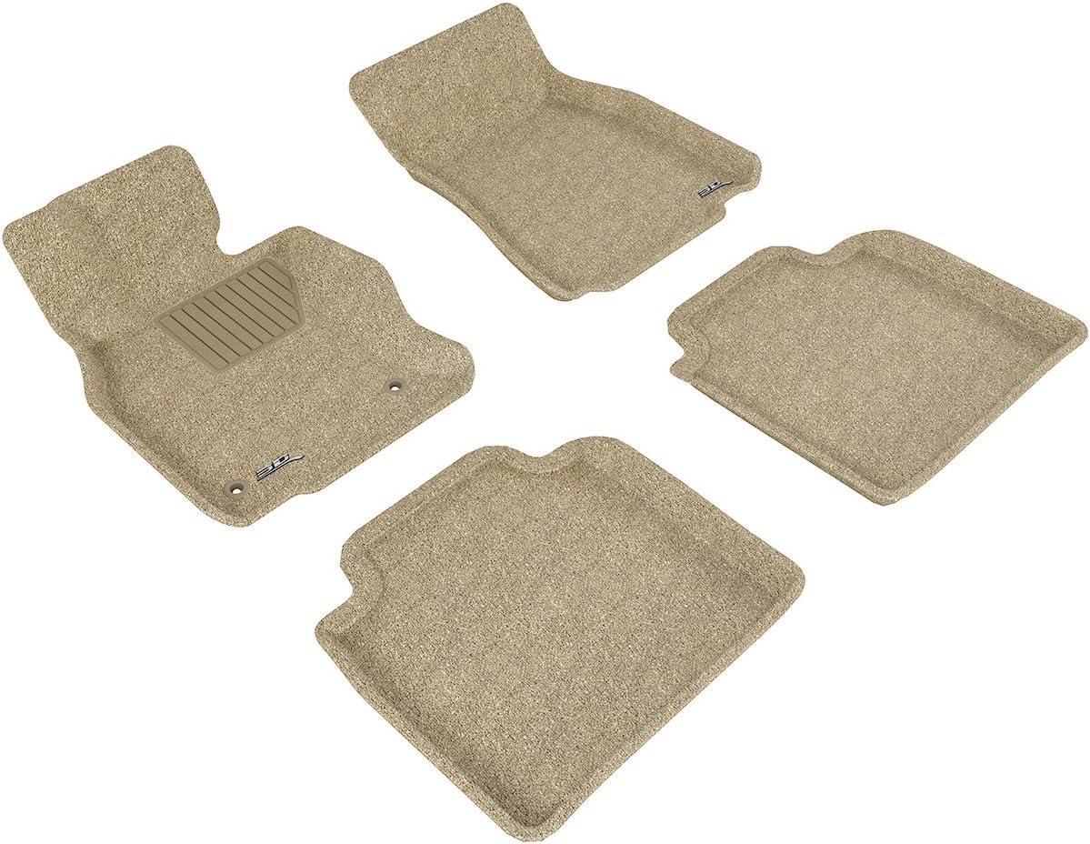 L1LX04202202 Tan Classic Carpet 3D MAXpider Complete Set Custom Fit Floor Mat for Select Lexus LS600HL Models