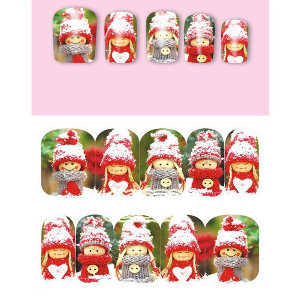 Pegatinas para uñas de navidad