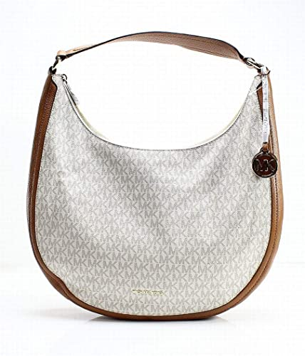 69d39ebd32d6 Amazon.com  Michael Kors Lydia Large Hobo Vanilla  Shoes