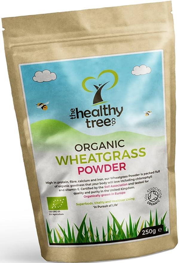 TheHealthyTree Company Hierba de Trigo Orgánico en Polvo de Alemania - 250g: Amazon.es: Salud y cuidado personal