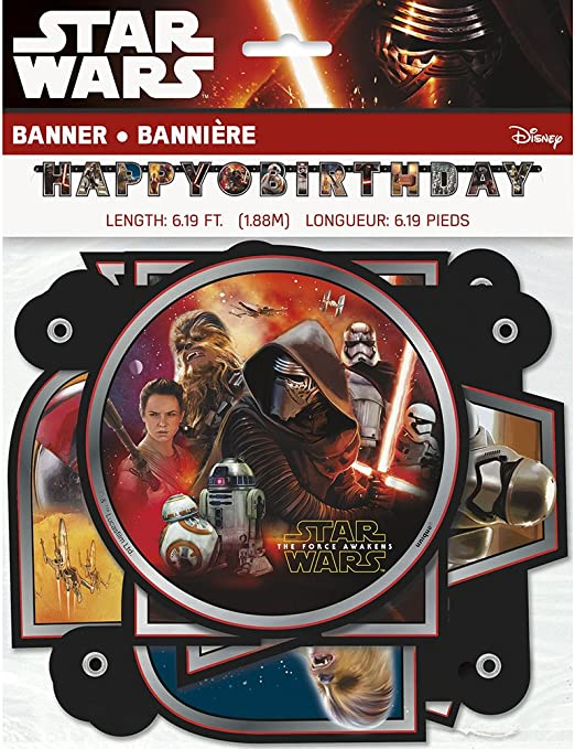 Star Wars The Force Awakens Happy Birthday Letter Banner Disney Party Decoration