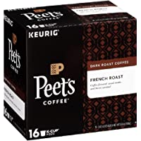 Peet's Coffee K-Cup Pack French Roast, Dark Roast Coffee, 16 Count Bold, Intense, Complex Dark Roast Blend of Latin American Coffees, with A Smoky Flavor and Pleasant Bite
