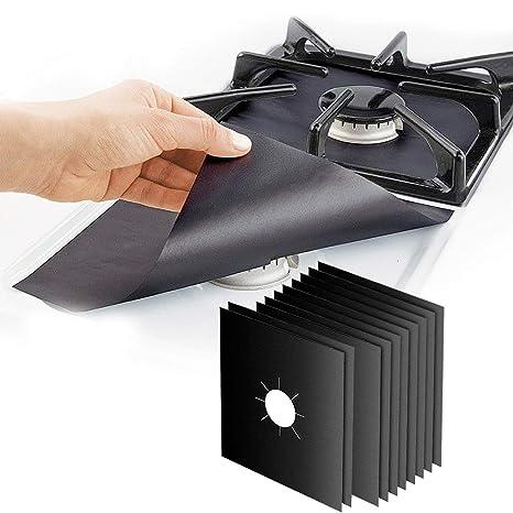 4 X universale in Teflon Piano cottura a gas nero Protector /& Heavy Duty Forno Rivestimento Antiaderente