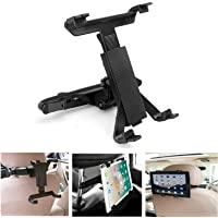 TERSELY Tablet Holder Car Headrest Rotatable Mount, Backseat Seat Universal Mount 360 Adjustable Rotating for iPad Pro…