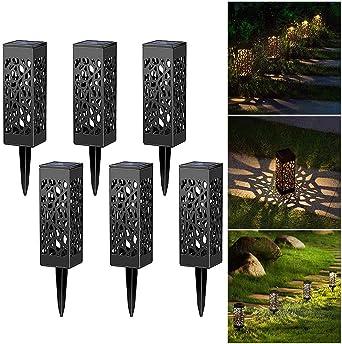 BSMEAN Luces de jardín LED Iluminación de senderos Luces de ...