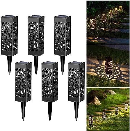 Ysoom - 6 farolillos para Exteriores, Luces solares para jardín para atmósfera Decorativa LED para Colgar con Farol Resistente al Agua IP44 para césped, Patio o Caminos: Amazon.es: Hogar