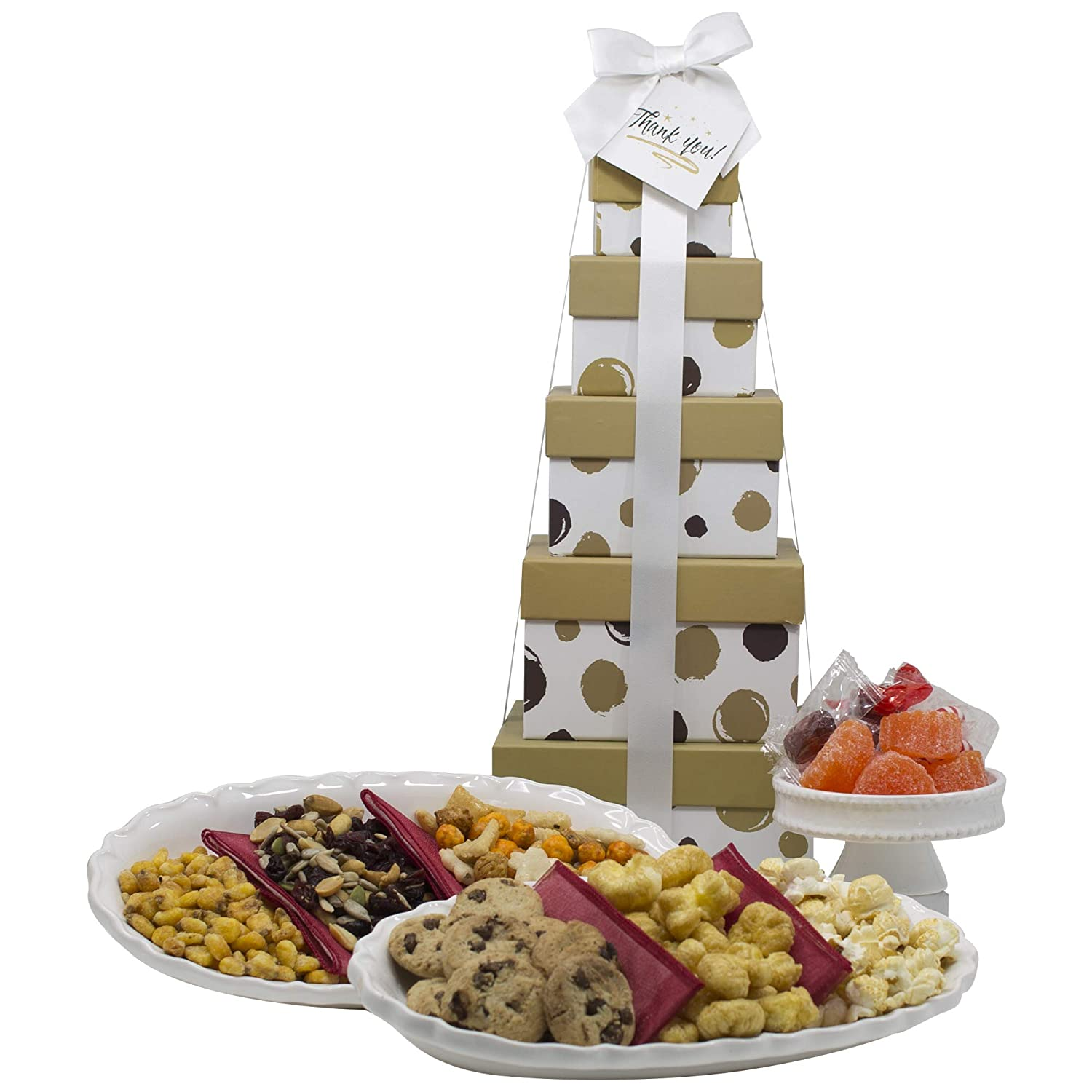 Christmas Gift Basket Box Tower - 5 Tier ALBOL Gift Baskets