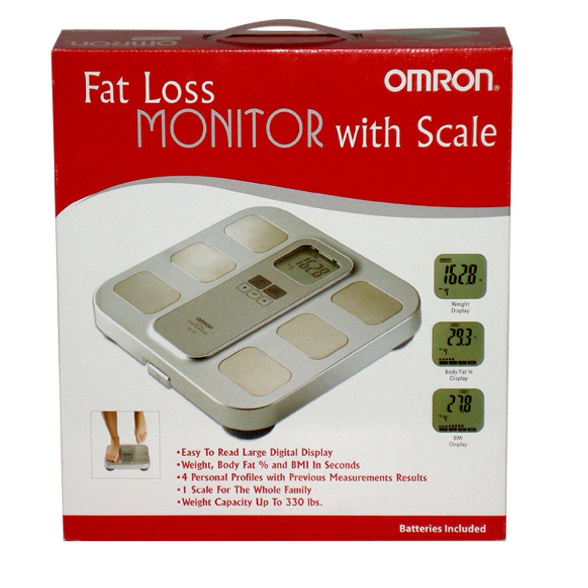 Omron Healthcare HBF-400 - Báscula de baño (LCD, Beige, Amarillo, 30,5 cm, 30 cm, 5,7 cm, AA): Amazon.es: Electrónica