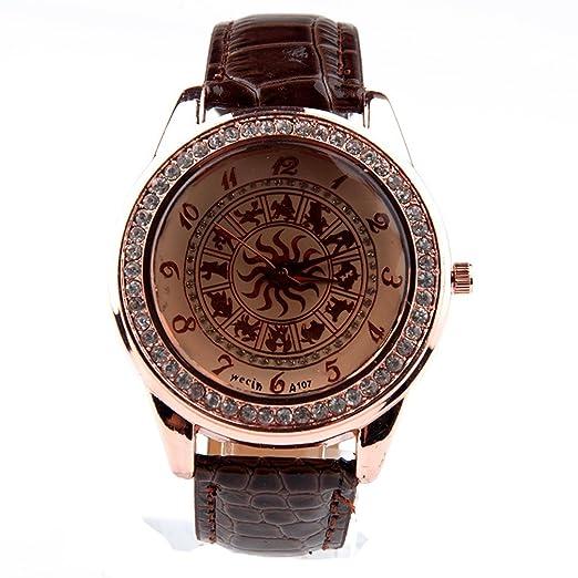 Zodiac Reloj caras de cristal reloj de pulsera signos del zodiaco Zodíaco: 227: Amazon.es: Relojes