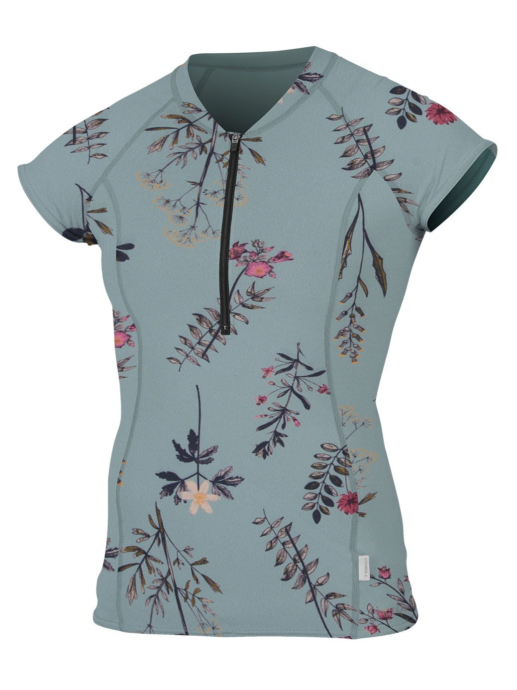 O'Neill Women's Cap Sleeve Sun Shirt Front Zip Piper Floral/Piper Floral Small