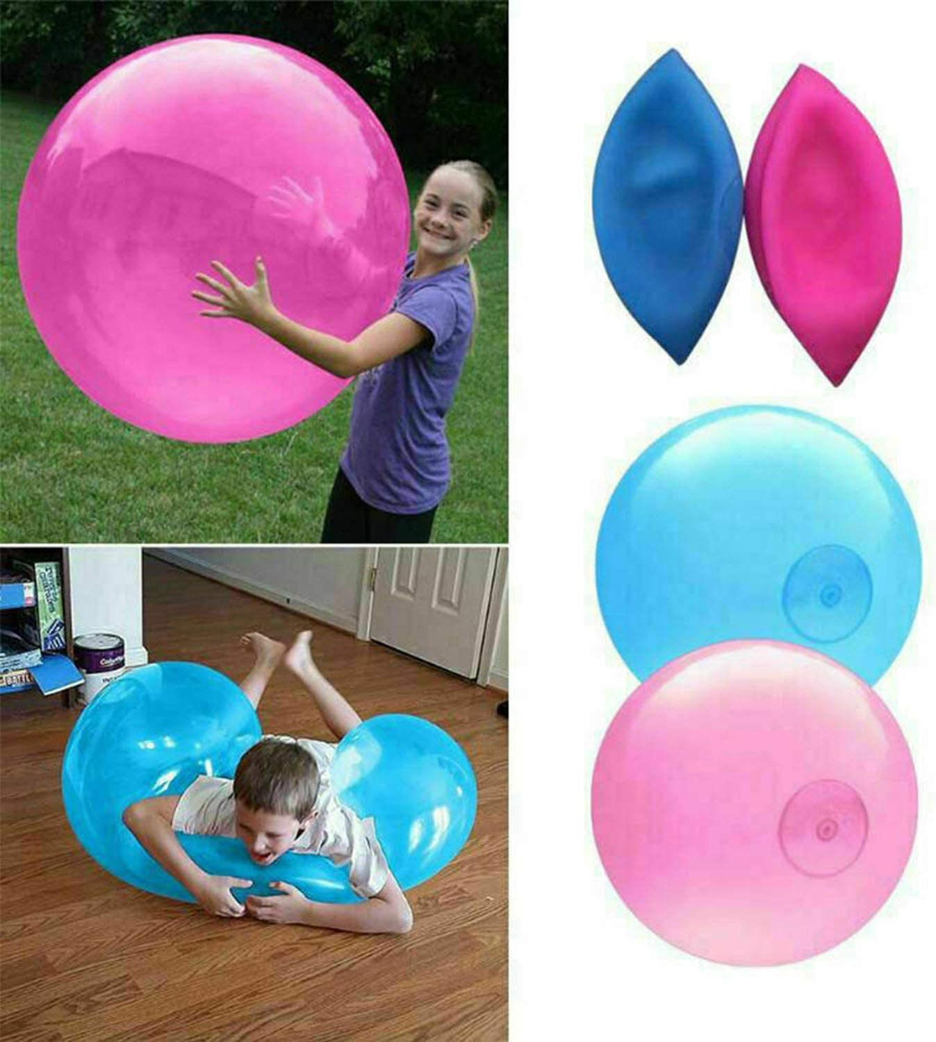 Gift Idea for Boys zxtrby Bubble Ball Toy 46.8 for Adults Kids Inflatable Water Ball Beach Garden Ball Soft Rubber Ball Outdoor Party Favor for Kids