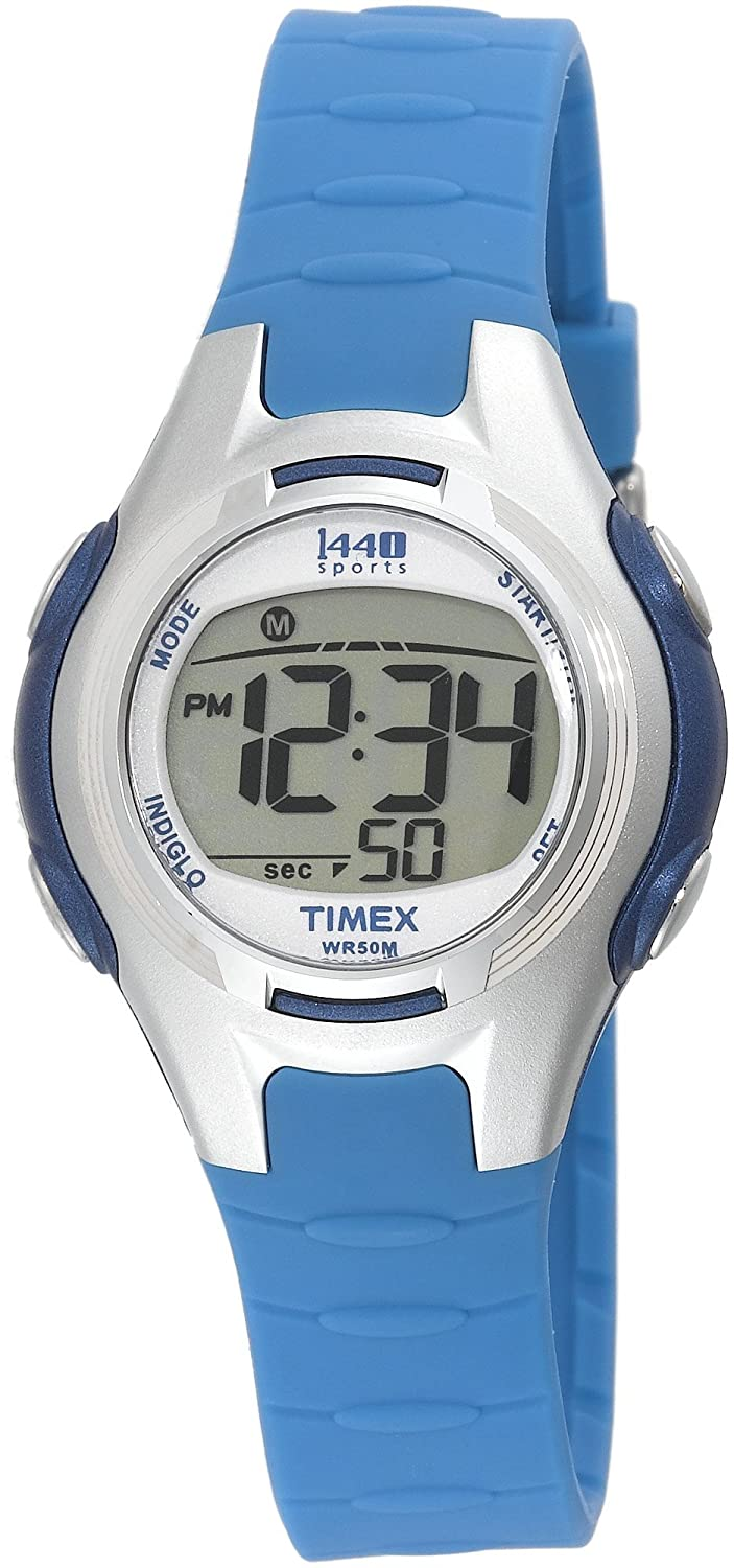 1aa7a9af2 Amazon.com: Timex Women's T5K079 1440 Sports Digital Light Blue Resin Strap  Watch: Timex: Watches
