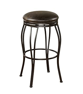American Heritage Billiards Romano Counter Height Stool, Coco Frame And  Tobacco Cushion