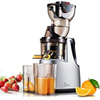 """JESE Juicers Wide Chute Anti-Oxidation Extra Slow Masticating Juicer Extractor (250W, 37RPMs, 3.5"""" Big Mouth) - Vertical Masticating Cold Press Juicer"""