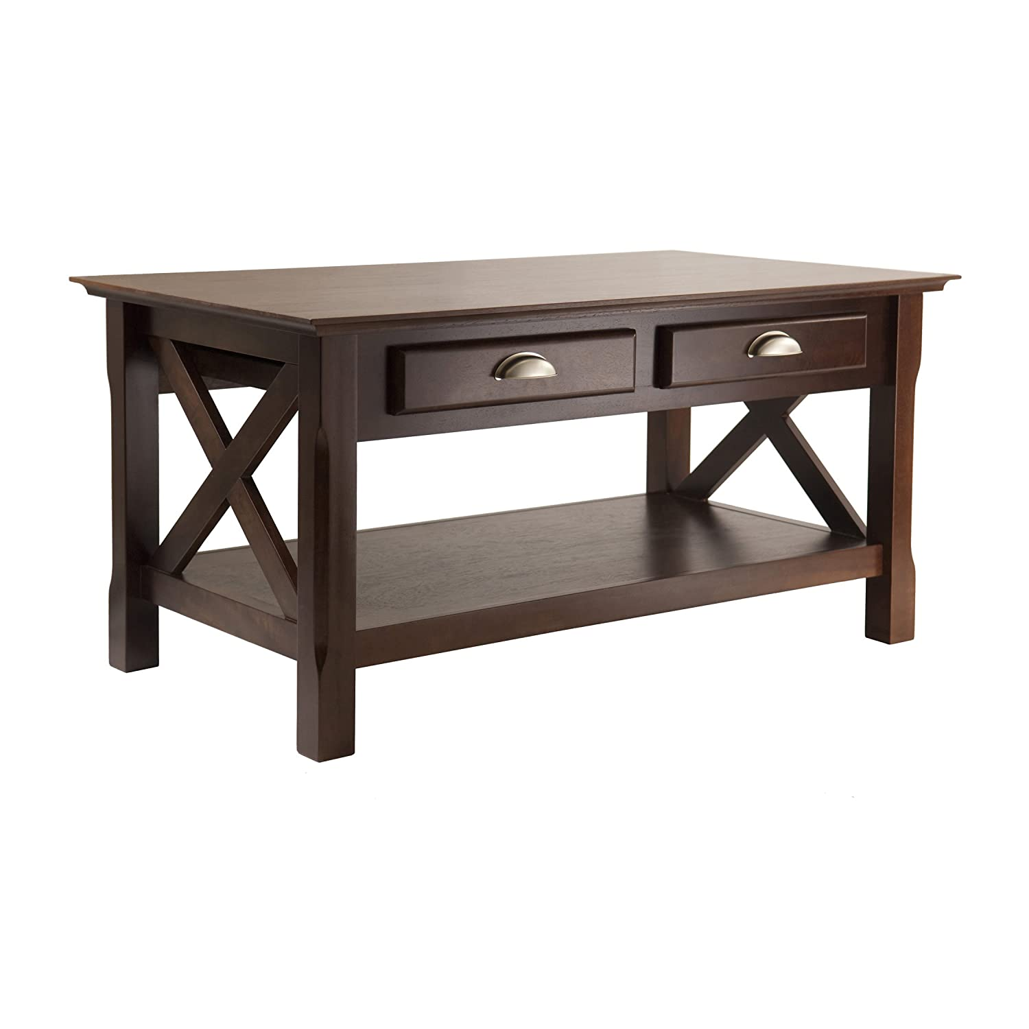 Winsome Wood Xola Coffee Table, Cappuccino Finish 40538