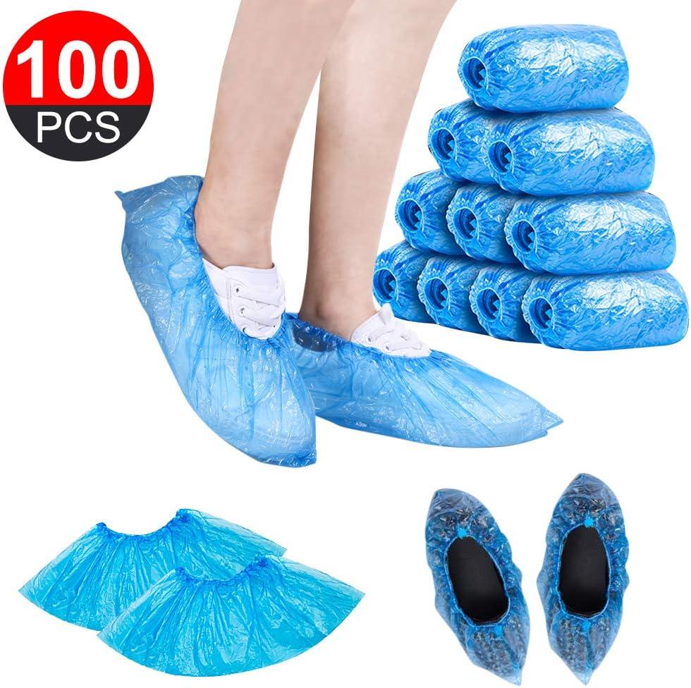 GCAILIAOSHIYOU 100Pcs / Set Cubiertas de zapatos de plástico impermeables para zapatos y botas