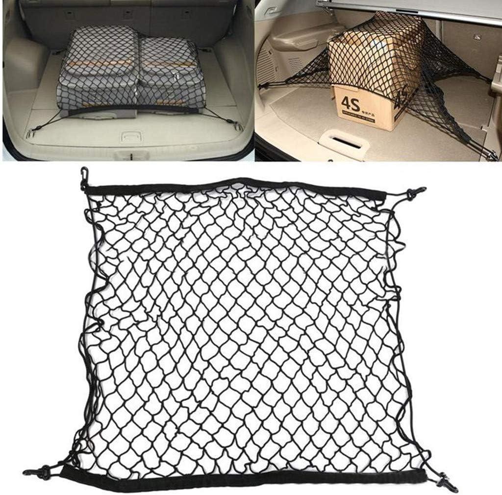 Organisateur Coffre Sac de Rangement Net Stockage Bagage 110 x 70cm Sac de Poche dorganisateur Filet de Rangement en Maille TriLance Filet de Stockage de Coffre de Voiture Noir