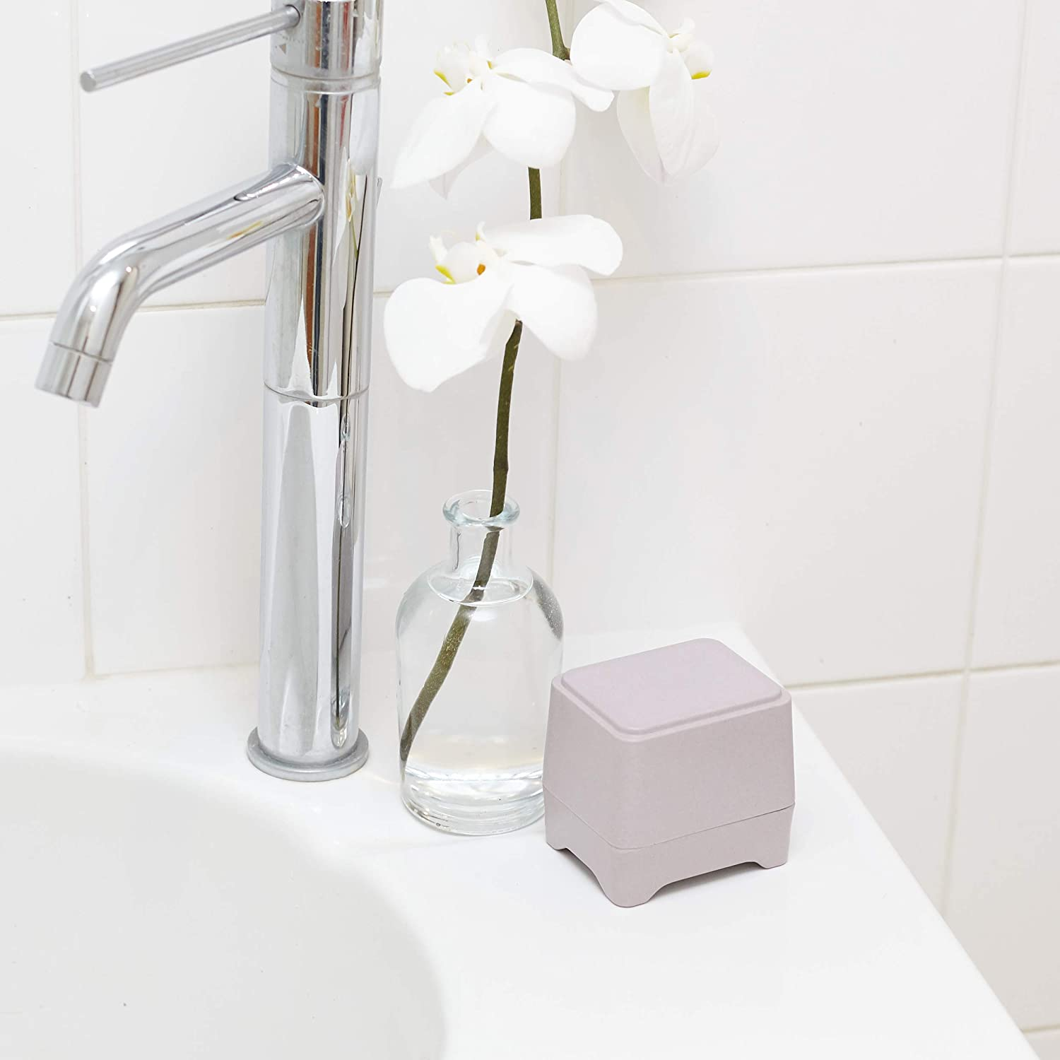 Ethique Eco Friendly in Shower Storage Container Lilac Bamboo Sugarcane 1 ea