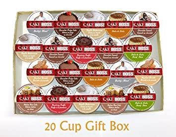20 Cup Cake Boss Coffee GIFT BOX Sampler! New Flavors! Chocolate Cannoli, Italian