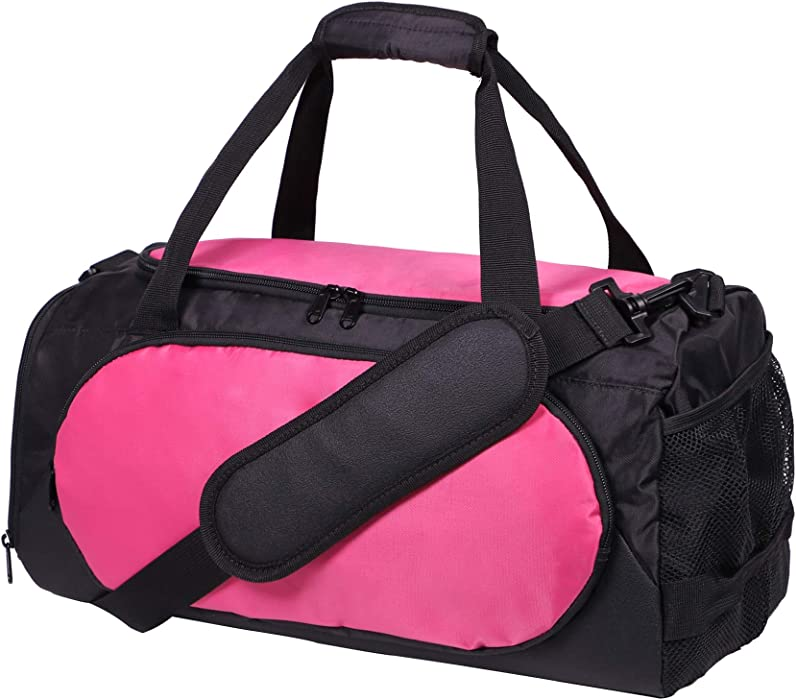 MIER Small Duffel Bag Sports Gym Bag for Women and Girls with Shoes  Compartment 48b16fd2cc316
