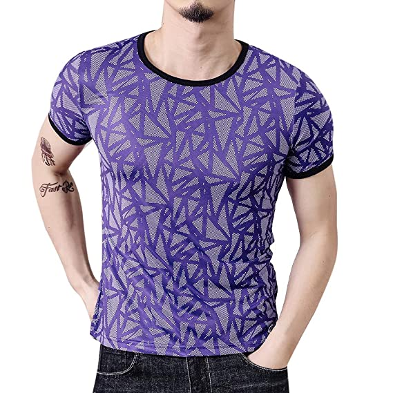 Hand Painted Style Mens Everyday ComfortSoft Short Sleeve T-Shirt for Workout Running Sports