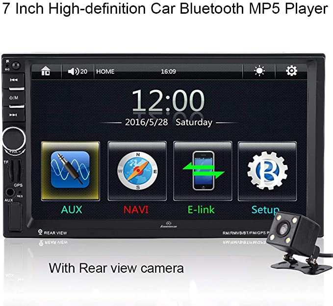 10-inch Car Stereo Bluetooth 1080P 10 inch Touch Screen MP5 Player with AUX//USB//Card Jack FM HD car Bluetooth MP5 Player Android GPS Navigation Integrated Host Control Modification