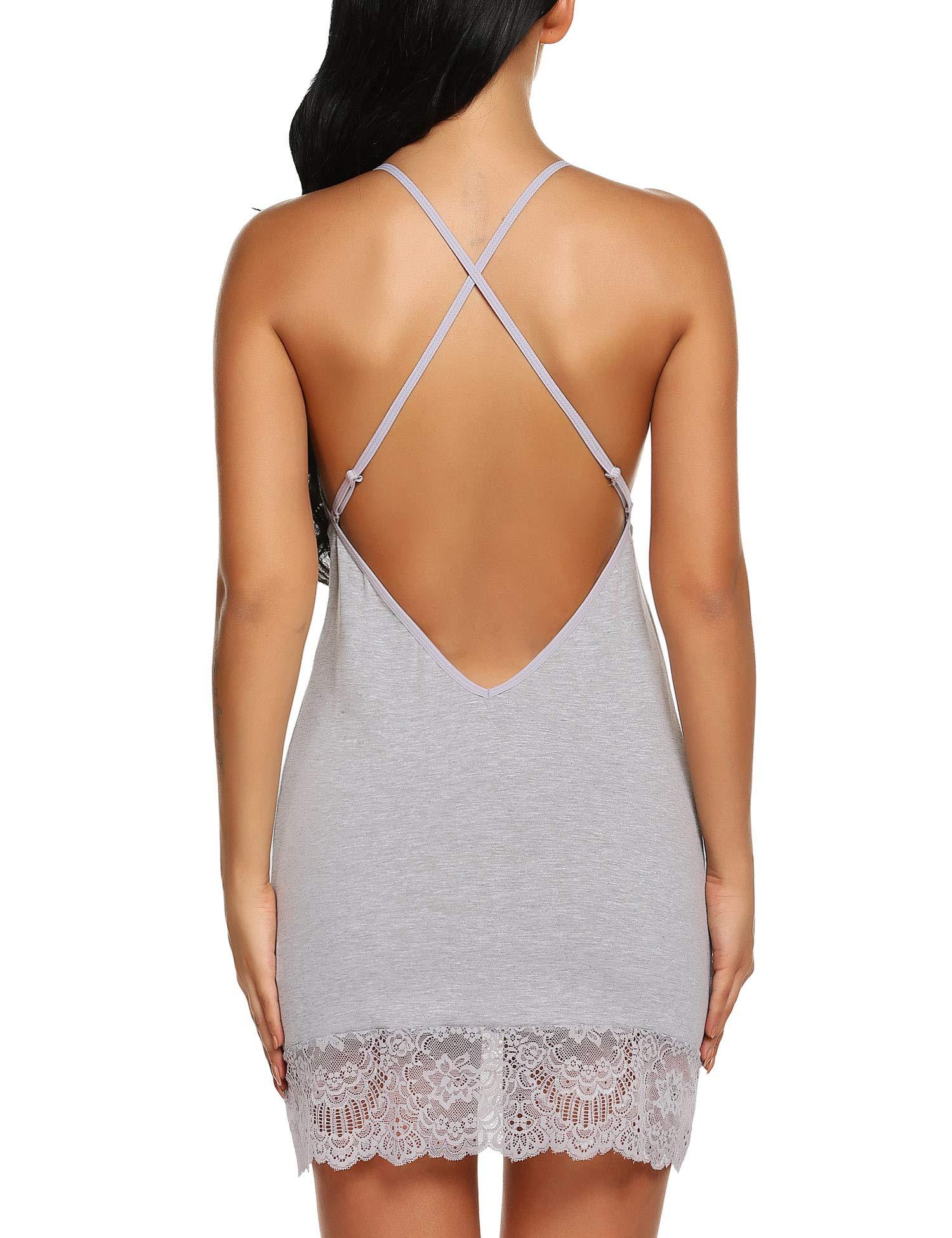 Klier Plus Size Sleepwear Cotton Nightshort Babydolls Lingerie Set
