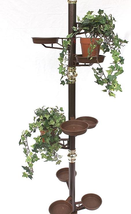 Columna de Flores, 260 cm, Escalera de flores, art. 7, soporte para flores, plantas, Macetero: Amazon.es: Hogar
