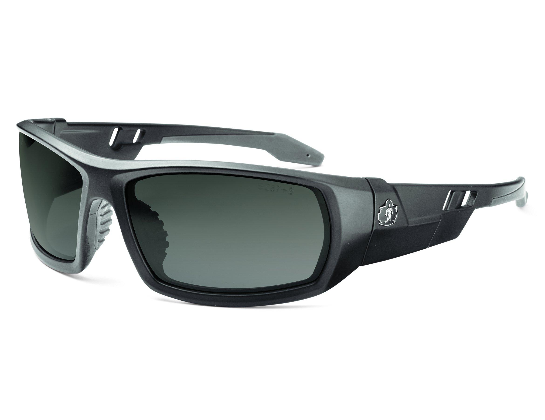 Ergodyne Skullerz Odin Safety Sunglasses - Matte Black Frame, Smoke Lens