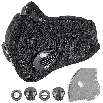 Máscara respirable de carbón activado, Máscara antipolvo Máscara antipolvo con filtro extra Filtros y hoja